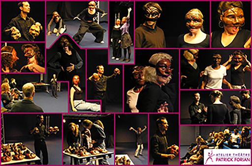 Commedia dell'arte, improvisation, masque neutre et mime
