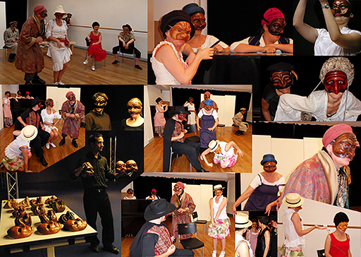 weekly classes on commedia dell'arte