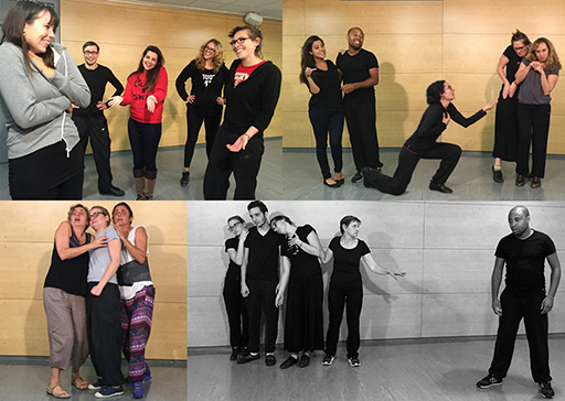 theater workshop for improvisation troupes, on the silent game