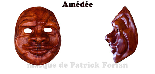 Amédée : Full face mask, in leather, made by Patrick Forian
