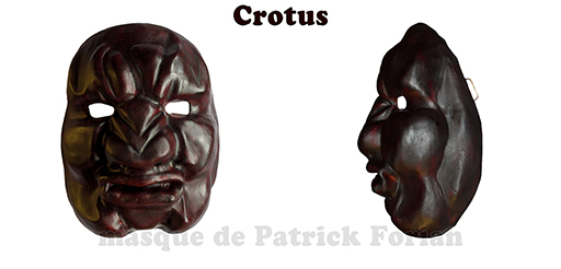 Crotus : Full face mask, in leather, made by Patrick Forian