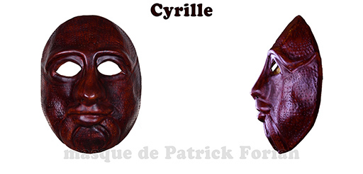 Cyrille : Full face mask, in leather, made by Patrick Forian