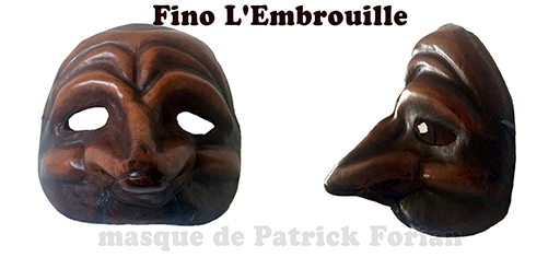 hybride mask related to zanni and Pulchinnella