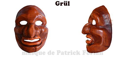 Grül : Full face mask, in leather, made by Patrick Forian