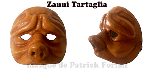 mask of Zanni Tartaglia - character of the commedia dell'arte - made by Patrick Forian