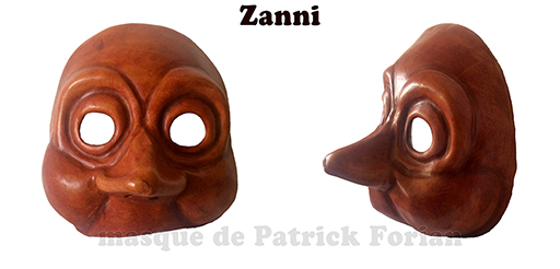 mask of Zanni - character of the commedia dell'arte - made by Patrick Forian