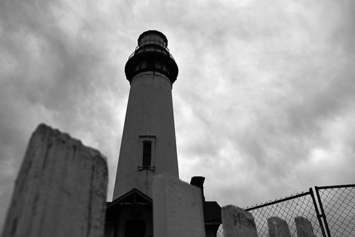 Pigeon Point's lighthouse, black and white photo © Patrick Forian