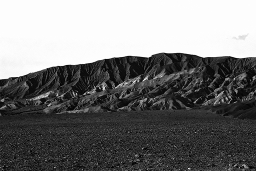 On the road to Death Valley, black and white photo © Patrick Forian
